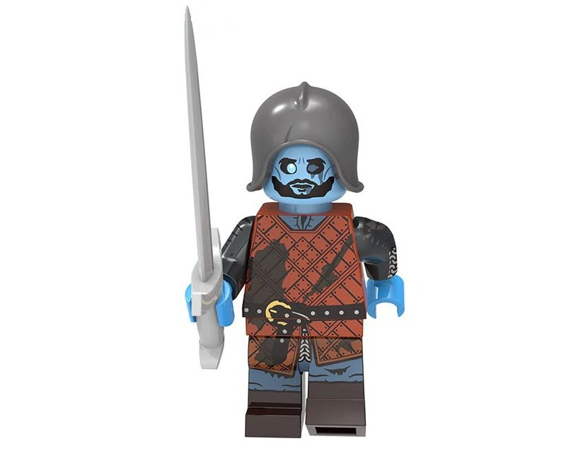 Minifigure Wights with Armor and Sword Game of Thrones Compatible Lego Building Blocks Toys