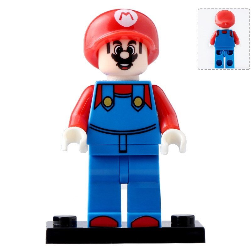 Minifigure Mario Red Compatible Lego Building Blocks Toys