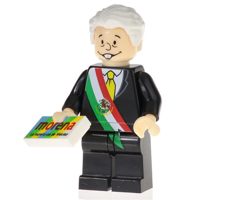 Minifigure Andres Manuel Lopez Obrador President of Mexico Compatible Lego Building Blocks Toys