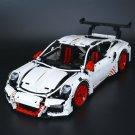 20001b White Porsche 911 GT3 RS Technic Series 2704pcs 42056 Lego compatible Building Blocks