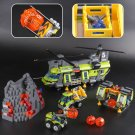 02087 Volcano Heavy-Lift Helicopter City Series 1430pcs 60125 Lego Compatible Building Blocks