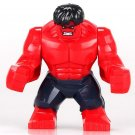 Minifigure Big Red Hulk Marvel Super Heroes Compatible Lego Building Block Toys