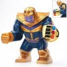 Big Minifigure Blue/Bronze Thanos Chrome Gold Infinity Gauntlet Marvel Super Heroes Compatible Lego