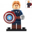 Minifigure Captain America Avengers Endgame Marvel Super Heroes Compatible Lego Building Block Toys