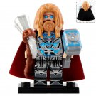 Minifigure Fat Thor with Mjolnir & Stormbreaker Avengers Endgame Marvel Super Heroes Compatible Lego