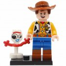 Minifigure Woody and Forky from Toy Story Pixar Disney Cartoons Compatible Lego Building Blocks Toys