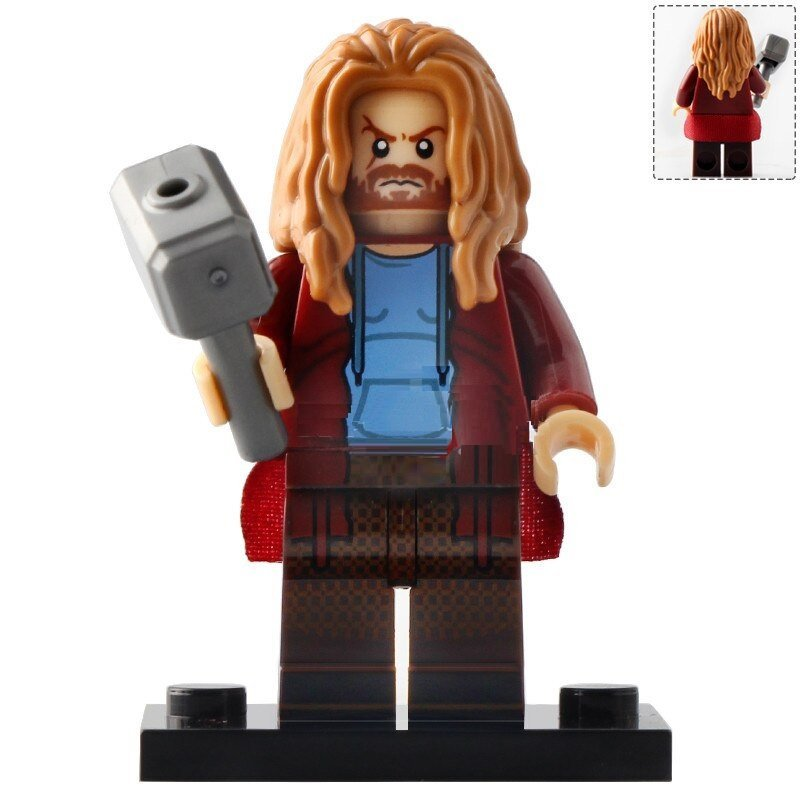 Minifigure Fat Thor with Mjolnir Avengers Endgame Marvel Super Heroes Compatible Lego Building Block
