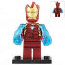 Minifigure Iron Man with Groot Head Marvel Super Heroes Compatible Lego Building Blocks Toys