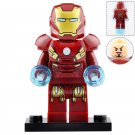 Minifigure Iron Man with Armor Marvel Super Heroes Compatible Lego Building Blocks Toys