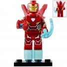 Minifigure Iron Man Mark 50 Avengers Infinity War Marvel Super Heroes Compatible Lego Blocks