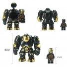 2pcs Set Minifigure Hulkbuster with Iron Man Black Color Marvel Super Heroes Compatible Lego Blocks