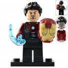 Minifigure Tony Stark with Iron Man Helmet Marvel Super Heroes Compatible Lego Building Blocks