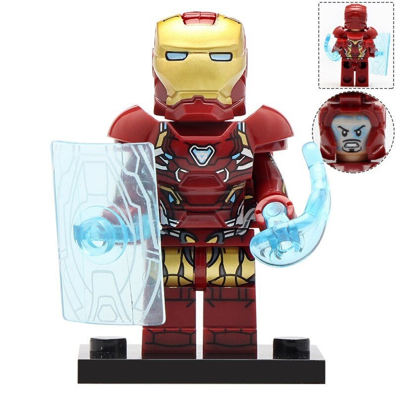 Minifigure Iron Man with Energy Shield Avengers Marvel Super Heroes Compatible Lego Blocks