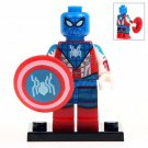 Minifigure Spider-man Captain America Style Marvel Super Heroes Compatible Lego Building Block Toys