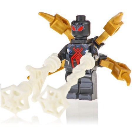 Minifigure Black Spider-man with Tentacles Marvel Super Heroes Compatible Lego Building Blocks