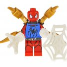 Minifigure Blue Hoodie Spider-man with Tentacles Marvel Super Heroes Compatible Lego Building Blocks