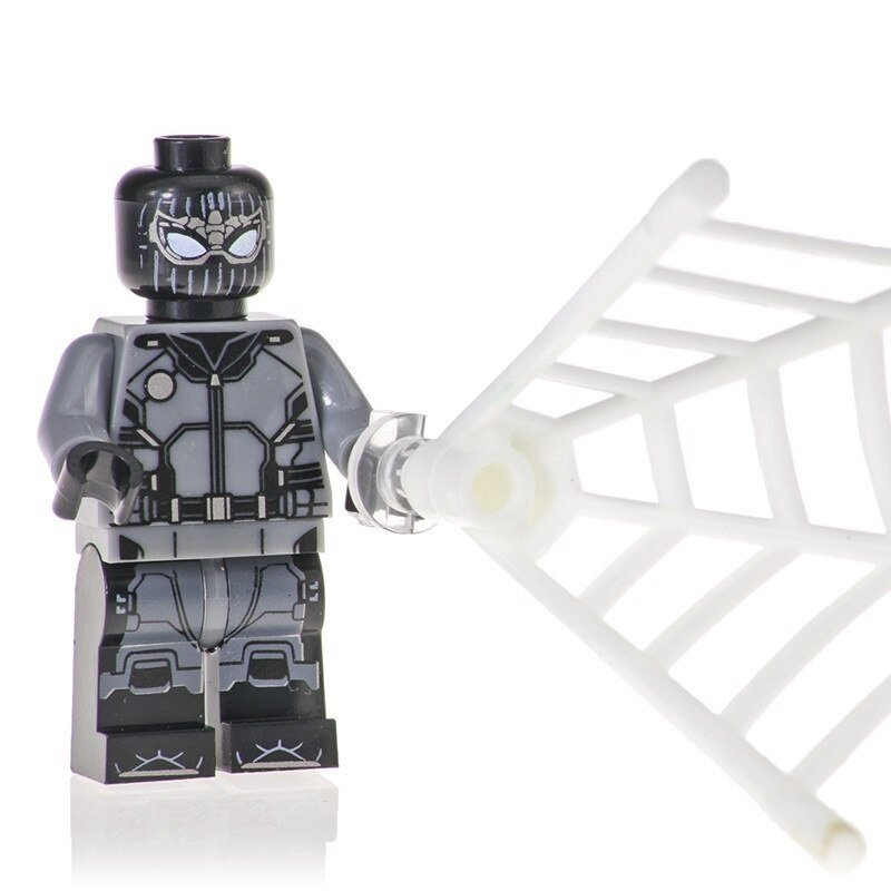 Minifigure Spider-man Stealth Suit Far From Home Marvel Super Heroes Compatible Lego Building Blocks