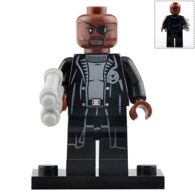 Minifigure Nick Fury from Spider-man Far From Home Marvel Super Heroes Compatible Lego Blocks