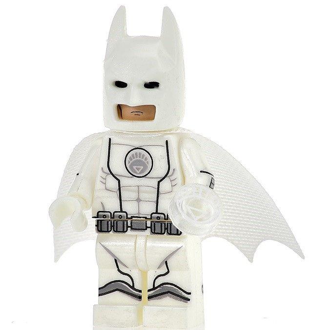 Minifigure Batman White Lantern Suit DC Comics Super Heroes Compatible Lego