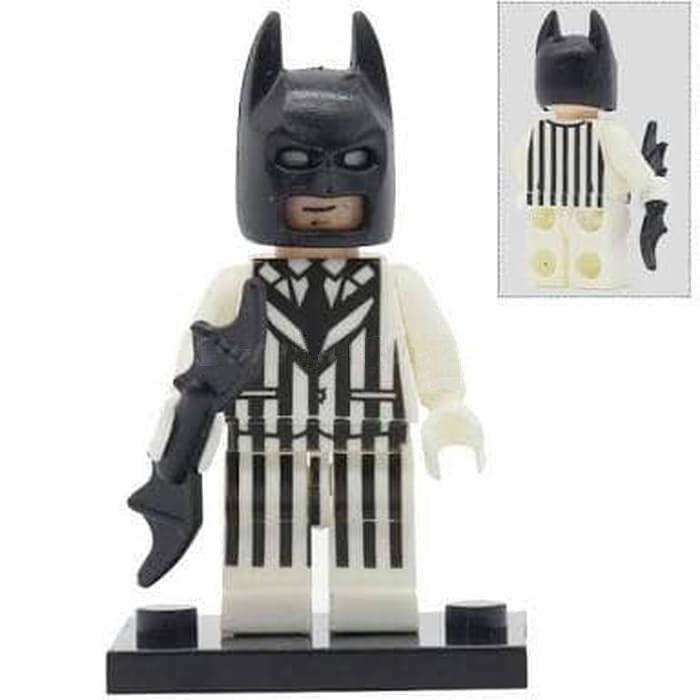 Minifigure Batman Striped Suit DC Comics Super Heroes Compatible Lego Building Blocks Toys