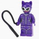 Minifigure Catwoman Purple Suit from Batman DC Comics Super Heroes Compatible Lego Building Blocks