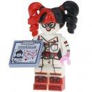 Minifigure Harley Quinn Arkham Asylum Nurse Suit from Batman DC Comics Super Heroes Compatible Lego