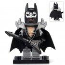 Minifigure Batman Glam Metal Rock Suit DC Comics Super Heroes Compatible Lego Building Blocks Toys
