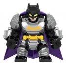 Minifigure Big Silver Armored Batman DC Comics Super Heroes Compatible Lego Blocks