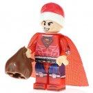 Minifigure Superman Christmas Suit DC Comics Super Heroes Compatible Lego Blocks