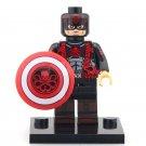 Minifigure Captain America Hydra Suit Marvel Super Heroes Compatible Lego Building Blocks Toys