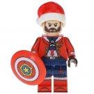 Minifigure Steve Rogers Captain America Christmas Style Marvel Super Heroes Compatible Lego Blocks