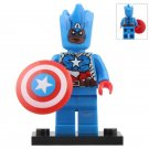 Minifigure Captain America Groot Style Marvel Super Heroes Compatible Lego Building Blocks Toys