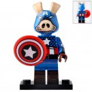 Minifigure Captain America Spider-Ham Style Marvel Super Heroes Compatible Lego Building Blocks Toys
