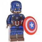 Minifigure Captain America Avengers Marvel Super Heroes Compatible Lego Building Blocks Toys
