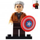 Minifigure Old Steve Rogers Captain America Marvel Super Heroes Compatible Lego Building Blocks
