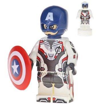 Minifigure Captain America Quantum Realm Avengers Endgame Marvel Super Heroes Compatible Lego