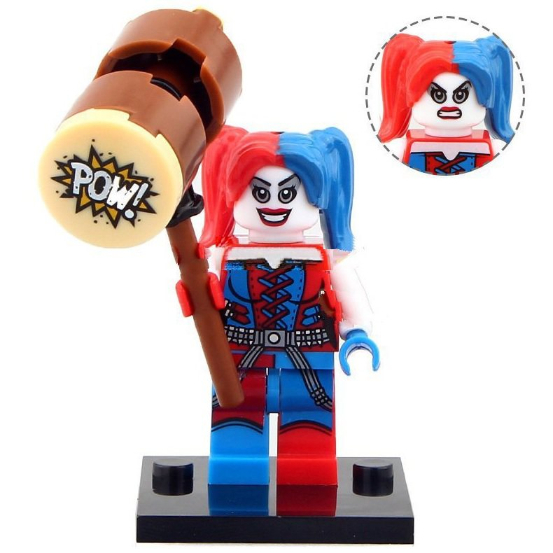 Minifigure Harley Quinn with Hammer DC Comics Super Heroes Compatible Lego Blocks