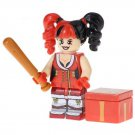 Minifigure Harley Quinn with Bat and Box DC Comics Super Heroes Compatible Lego Blocks