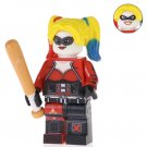 Minifigure Harley Quinn with Bat DC Comics Super Heroes Compatible Lego Building Blocks Toys