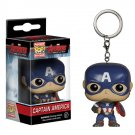 Captain America Avengers Marvel Super Heroes Funko POP! Keychain Action Figure Vinyl Minifigure Toy