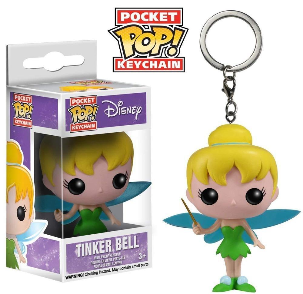 Tinker Bell Disney Funko POP! Keychain Action Figure Vinyl PVC Minifigure Toy