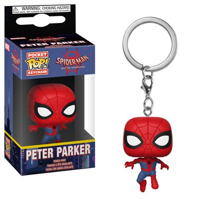 Peter Parker Spider-Man Marvel Super Heroes Funko POP! Keychain Action Figure Vinyl Minifigure Toy