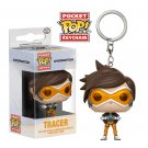 Tracer Overwatch Game Funko POP! Keychain Action Figure Vinyl PVC Minifigure Toy