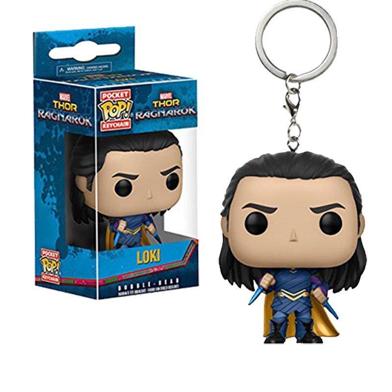 Loki Thor Ragnarok Marvel Super Heroes Funko POP! Keychain Action Figure Vinyl PVC Minifigure Toy