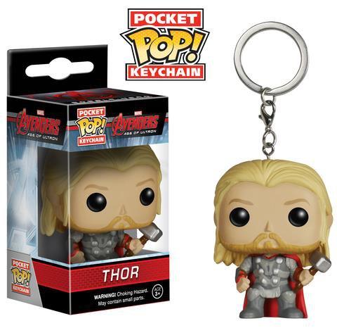 Thor Avengers Marvel Super Heroes Funko POP! Keychain Action Figure Vinel PVC Minifigure Toy