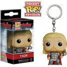 Thor Avengers Marvel Super Heroes Funko POP! Keychain Action Figure Vinel PVC Minifigure Toy