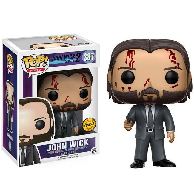 John Wick (Bloody) (Chase) �387 Funko POP! Action Figure Vinyl PVC Minifigure Toy