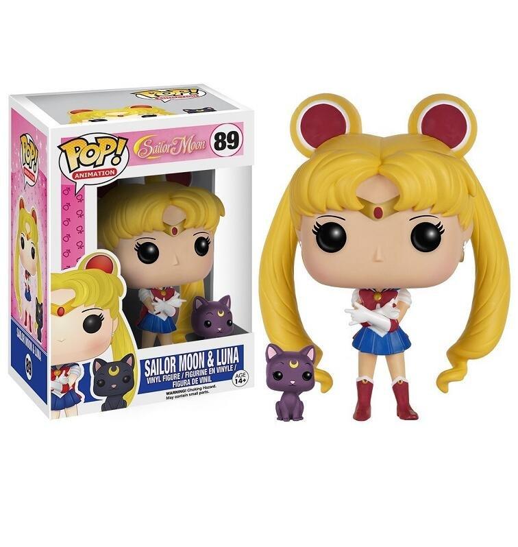 Sailor Moon & Luna �89 Funko POP! Action Figure Vinyl PVC Minifigure Toy