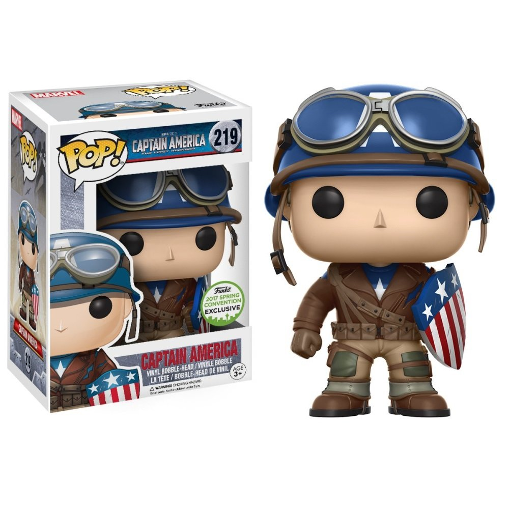 Captain America (World War II) Marvel Comics �219 Funko POP! Action Figure Vinyl Minifigure Toy