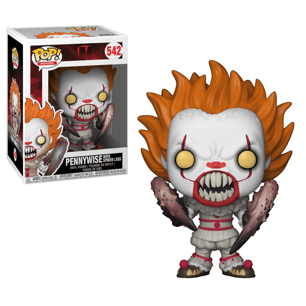 Pennywise with Spider Legs IT �542 Funko POP! Action Figure Vinyl PVC Minifigure Toy